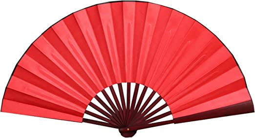 Amazon Com Honshen Folding Hand Fan Bamboo Blank Chinese Hand Fan Wedding Party Gift With Traditional Chinese Arts Red 13inch Arts Crafts Sewing