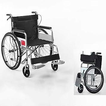 Wheelchair Silla de Ruedas Manual multifunción Plegable multifunción JFW con Frenos de Mano, Muy Ajustada