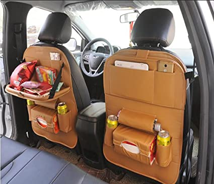 QXXZ Car Backseat Organizer PU Leather Auto Back Car Seat Organizer ...