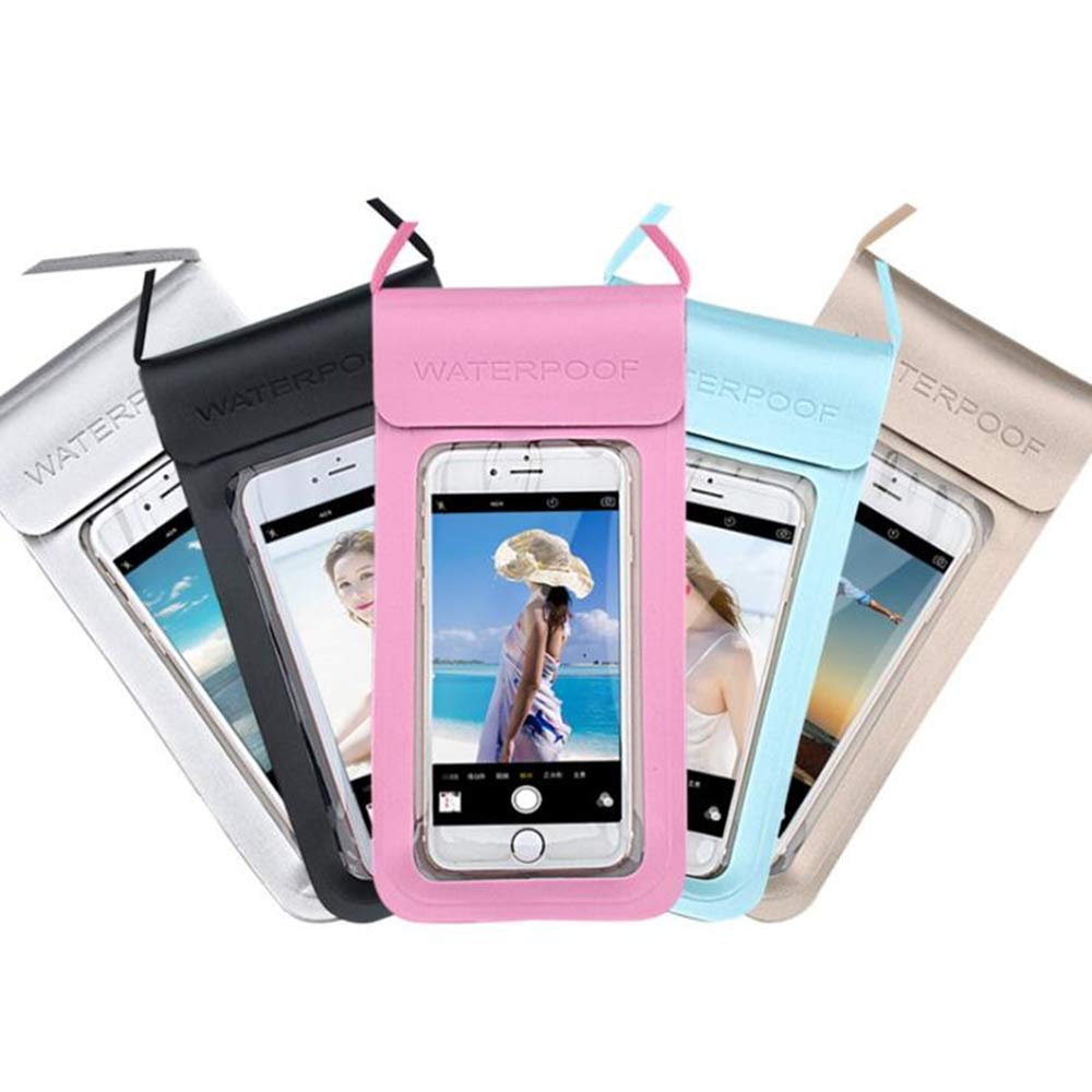 ZhiWei 5 Pcs Waterproof Cell Phone Case Pouch Holder Universal Snowproof Dirtproof Outdoor Sports Cell Phone Dry Bag by ZhiWei