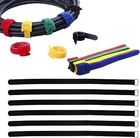 5x Adjustable Hook and Loop Fastener Cable Ties Tidy Strap Tool Organiser