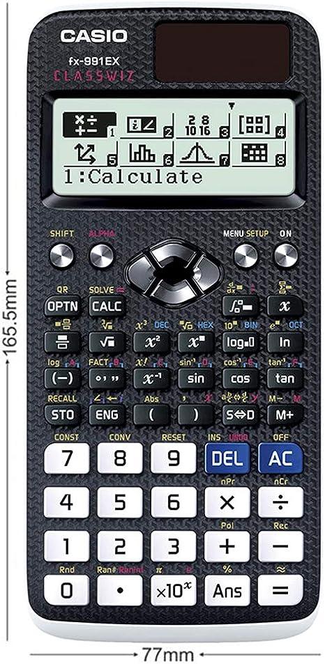 Casio Calculatrice Scientifique Classwiz Fx 991 Ex 552 Fonctions Amazon Fr Fournitures De Bureau