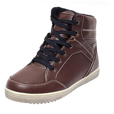 Damen Herren Sneaker Gr. 36-40 Freizeit Schuhe Sneaker Winterschuhe dunkelgrau