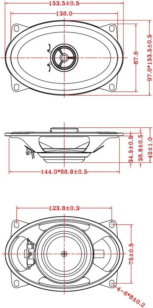 RetroSound R-463N 4 x 6 Stereo Replacement Speaker