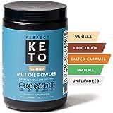 Perfect Keto MCT Oil C8 Powder, Coconut Medium Chain Triglycerides for Pure Clean Energy, Ketogenic Non Dairy Coffee Creamer, Bulk Supplement, Helps Boost Ketones, Vanilla