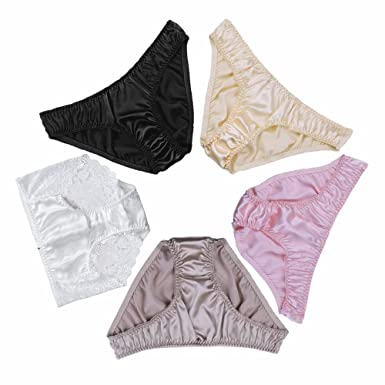 609c3b1f5fb7 LILYSILK Mulberry Silk Panties Pack of 5 Women Ladies Knickers Underwear  Soft Breathable Size L: Amazon.co.uk: Clothing
