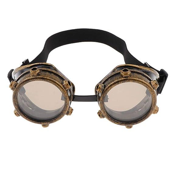 Baoblaze Gafas Cibernéticas Steampunk Vintage con Banda Elástica para Mujer Hombre - Oro Antiguo: Amazon.es: Juguetes y juegos