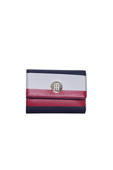 Tommy Hilfiger - Effortless Saffiano Med Wallet, Carteras Mujer, Azul (Corporate),