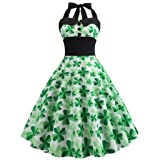 St. Patrick's Day Women's Dress Without Sleeve