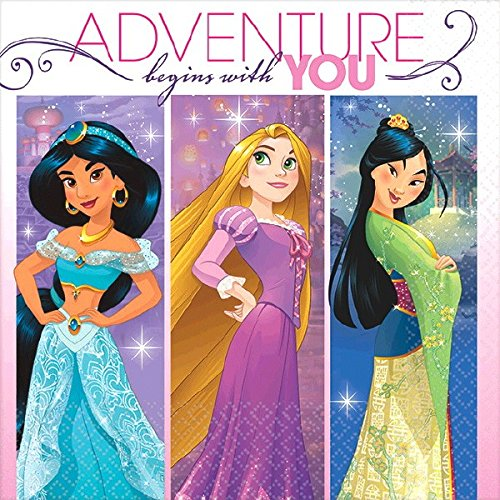 - Beverage Napkins | Disney Princess Dream Big Collection | Party Accessory
