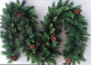 amazing kitchen christmas garland | Best Artificial 9ft (2.7m) Luxury Christmas Garland with ...
