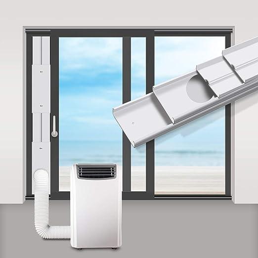 Gulrear - Kit de ventilación para ventana de aire acondicionado portátil, kit de ventilación de aire acondicionado portátil, longitud ajustable, portátil para manguera de escape de 13 cm: Amazon.es: Hogar