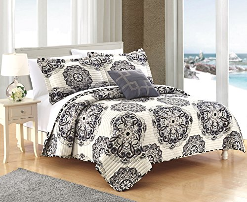 Chic Home Madrid 4 Piece Reversible Quilt Set