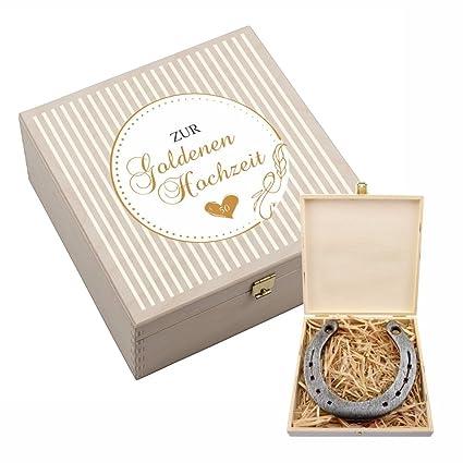 4you Design Hufeisen Box Mit Motiv Zur Goldenen Hochzeit