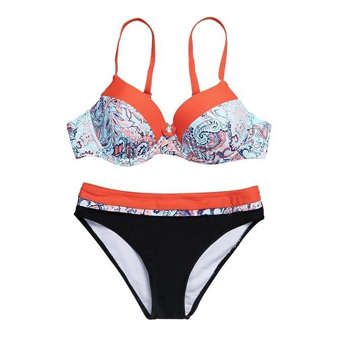 d67f4cfd1e11 Costume da Bagno,OHQ 💕 Abbigliamento Donna Mare E Piscina Bikini Slip  Tanga Culotte Scarpe Accessori Costumi da Bagno Nuovi Reggiseno Push-Up  Imbottito ...