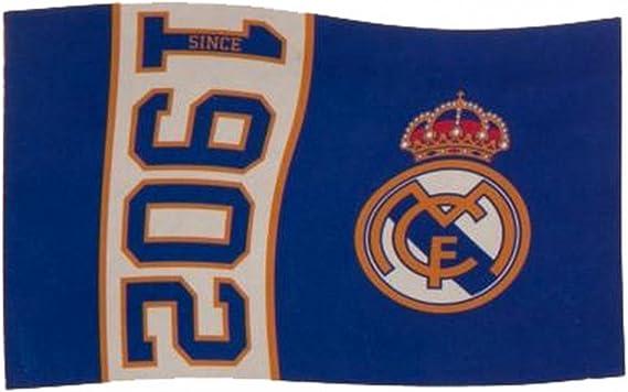 El Real Madrid FC de fútbol desde 1902 bandera la azul partido ...