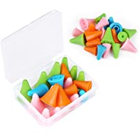 20 PCS Mixed Color Knitting Needles Point Protectors/Stoppers with Plastic Box, Include 10 Small & 10 Large, Knit Needle…