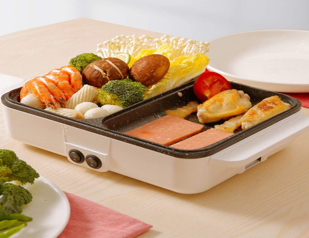 MNBVC Barbecue Barbecue électrique Et Fondue D'Asie Cuisinière Tabletop avec Revêtement en Contrôle De La Température Chauffage Rapide Barbecue A
