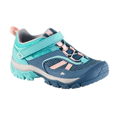 69ecec497998 Quechua Girl s Mountain Hiking Shoes Cross Rock Turquoise - Blue Pink (EU  ...