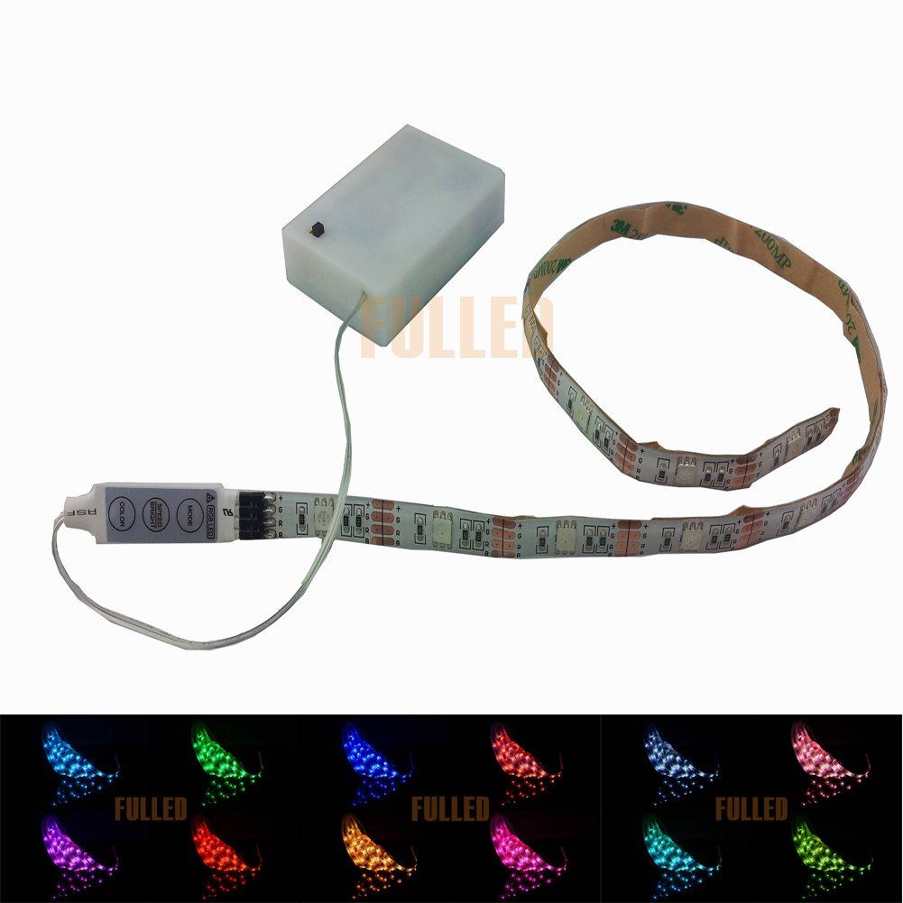 LED Leiste 50CM Stripe Licht RGB Mehrfarbig + Batterie box ...