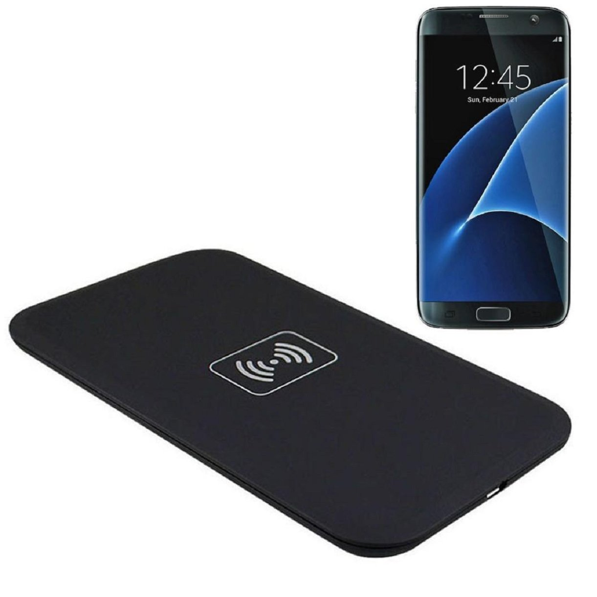 Galaxy S7 Edge Wireless Charger, Lookatool for Samsung Galaxy S7 edge Qi Wireless Charger Charging Pad (Black )