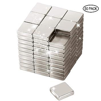 Wukong 50 pieza Imanes Neodimio Cuadrado Magnético Estupendo,para ...