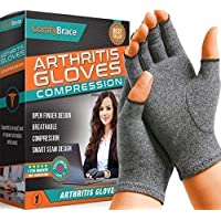 Comfy Brace Arthritis Hand Compression Gloves – Comfy Fit, Fingerless Design, Breathable...