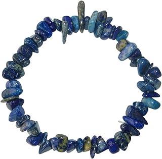 Lapis Lazuli Splitter Armband schönes blau mit Einschlüssen ca. 20 cm elastisch aufgezogen.(3385)