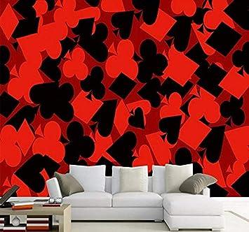 Fondo de pantalla mural para paredes 3D Hermosa moda Rojo Negro ...