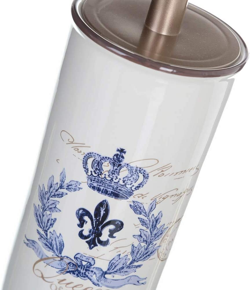 LOLAhome Escobilla de ba/ño provenzal Azul de cer/ámica para Cuarto de ba/ño France