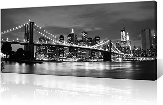 Canvas Prints Picture Wall Art Home Decor Painting Photo Brooklyn Bridge Framed