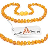 Premium Amber Teething Necklace / Extra Safe / 50% Richer and Higher in Value / Sizes from 11.6 IN to 14.7 IN/ Reduces Teething Symptoms Naturally /HNY.U-BRQ / 31.5CM / 12.4IN