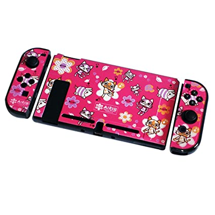 Camouflage Anime Cover Case for Nintendo Switch Slim Rubberized Fission Design Hard Case Nintendo Switch Cover (cat)
