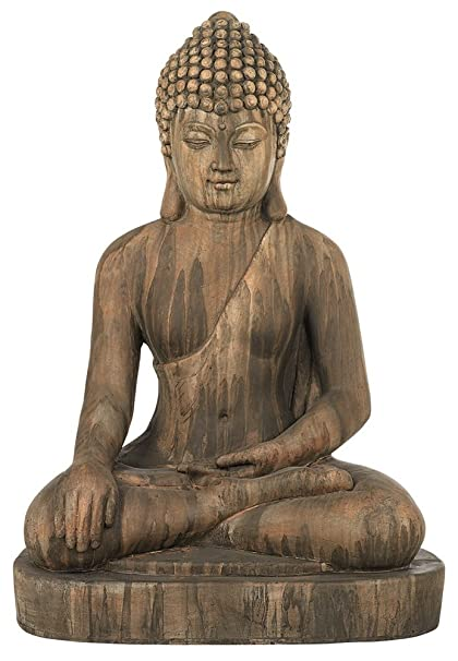 Sitting Buddha 29 1/2u0026quot; High Light Sandstone Outdoor Statue