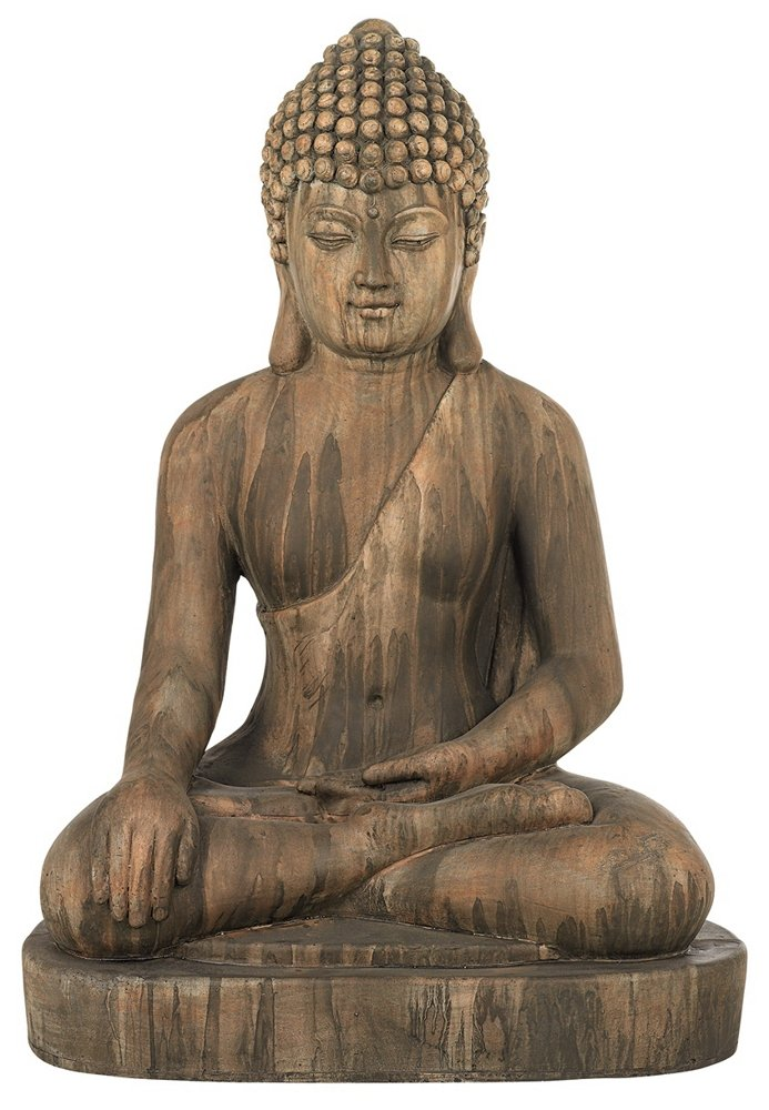 Sitting Buddha Faux Sandstone 29 1/2''H Outdoor Statue by John Timberland