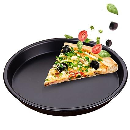 Bandeja de pizza Bandejas para Horno Bandeja Bandeja para Hornear Molde Redondo para Hornear para el