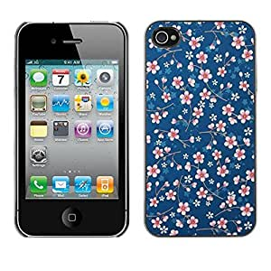 Design Hard ShellBlue Pattern Floral Wallpaper For HTC One M9 Case Cover