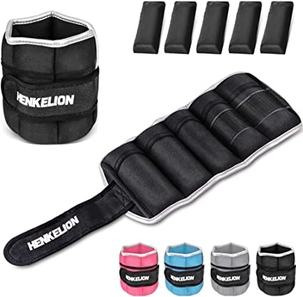 20 Lb Adjustable Ankle Weights Running Pair of Leg Wrist Arm Home Gym Exercise