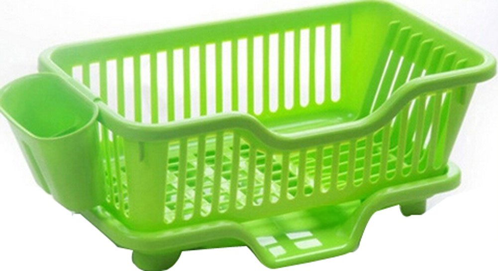 Kitchen Dish Rack Storage Rack Sink Grid/ Grid Tableware Rack Front Green PANDA SUPERSTORE PS-HOM5298280011-SUNNY00259