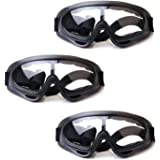 HONGCI 3 Pack Gafas de Seguridad para Niños,Juegos para Nños al Aire Libre Gafas Protectoras para Pistola de Espuma…