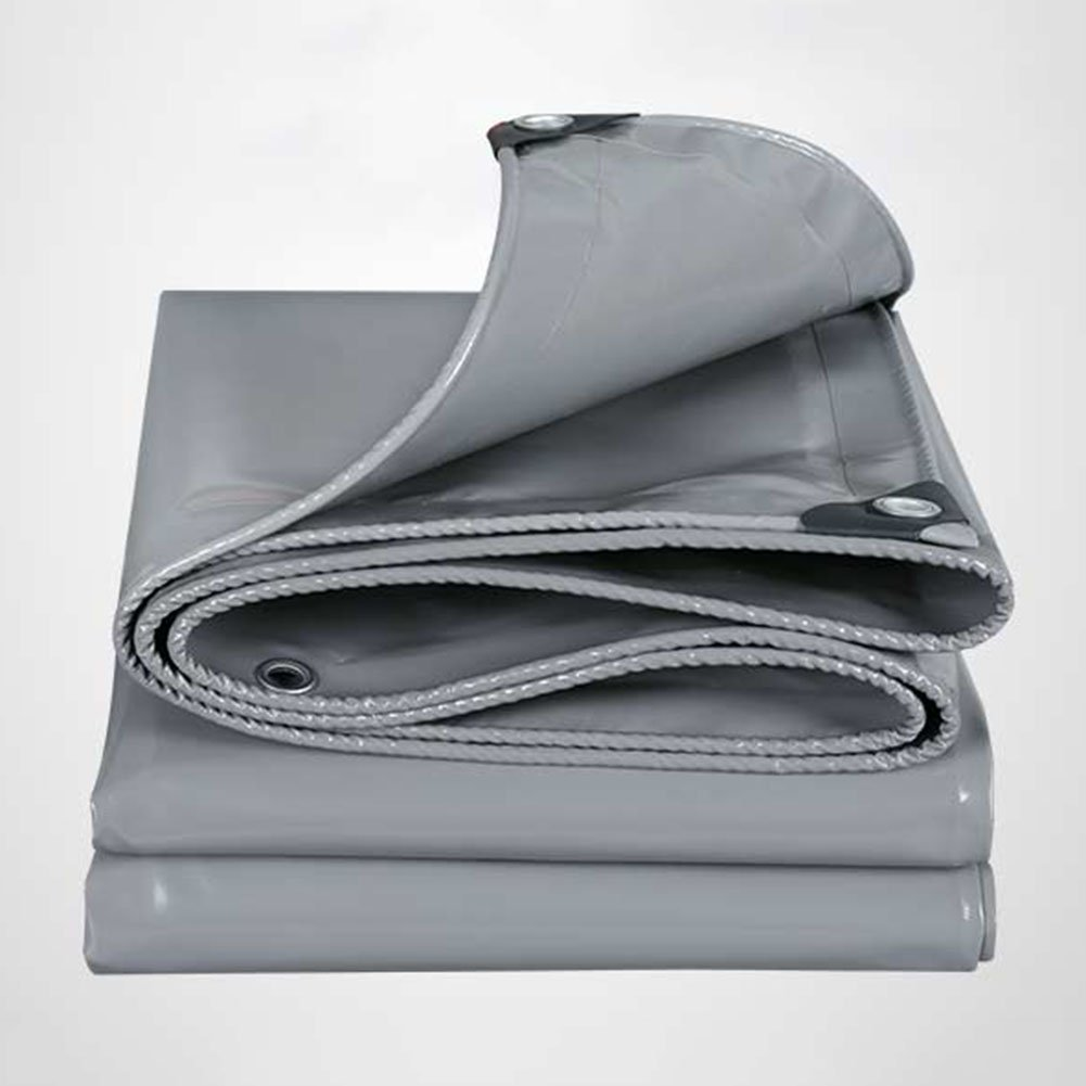 WUFENG オーニング 耐摩耗性 防水 日焼け止め キャノピー 押し引き 環境を守ること ナイフスクレーピング 3つの布 屋外 トラック 厚さ0.45mm 550g/M2 (色 : グレー, サイズ さいず : 4x5m) B07DFQ6RV7 4x5m|グレー グレー 4x5m