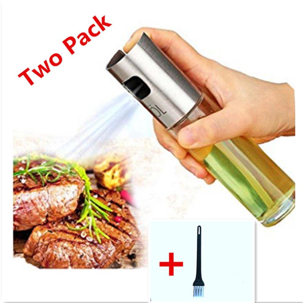 Aceite de oliva pulverizador portátil barbacoa parrilla de cocina aceite de cocina pulverizador de gatillo botella para/cocina/vinagre (un paquete) un ...