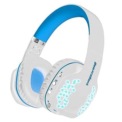 Auriculares Bluetooth con Micrófono, Beexcelente Wireless Q2 Plegable Cancelación de Ruido Over-Ear Auriculares