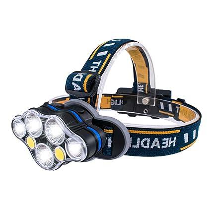 STIRNLAMPE USB WIEDERAUFLADBAR KOPFLAMPE Camping-Lampen & -Laternen Helmlampe
