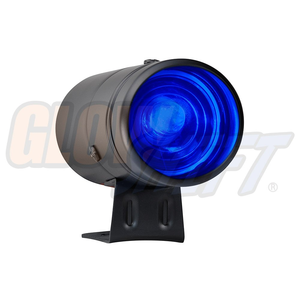 GlowShift Adjustable Shift Light - Black Housing & Blue LED - for 1-10 Cylinder Gas Powered Engines by GlowShift
