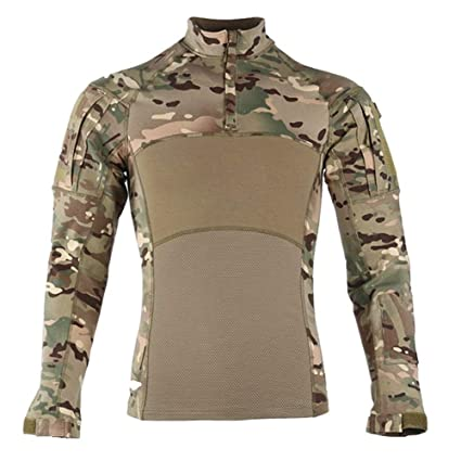 QWERBAN Camisas De Combate Táctico Probada Ropa Militar ...