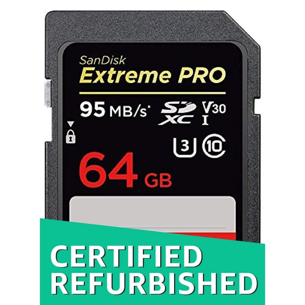 Renewed SDSDXXG-064G-GN4IN SanDisk Extreme Pro 64GB SDXC UHS-I Memory Card