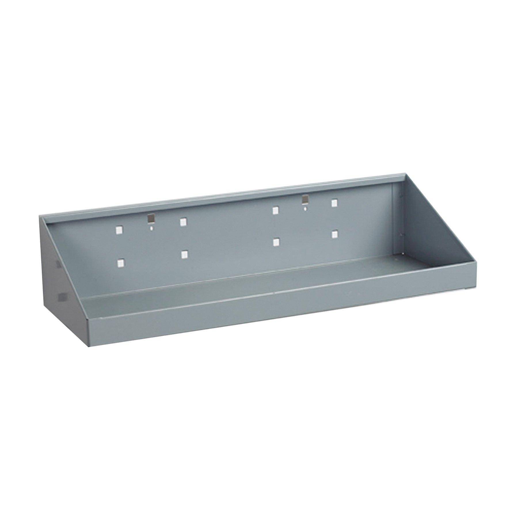 Triton Products 56186 LocHook 18-Inch Width by 6-1/2-Inch Deep Epoxy Powder Coated Shelf for LocBoard, Gray