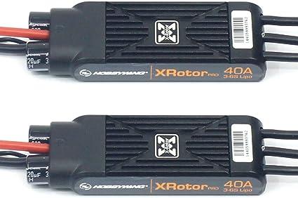 New 2pcs Hobbywing XRotor Pro 40A ESC No BEC 3S-6S Lipo Brushless ESC DEO