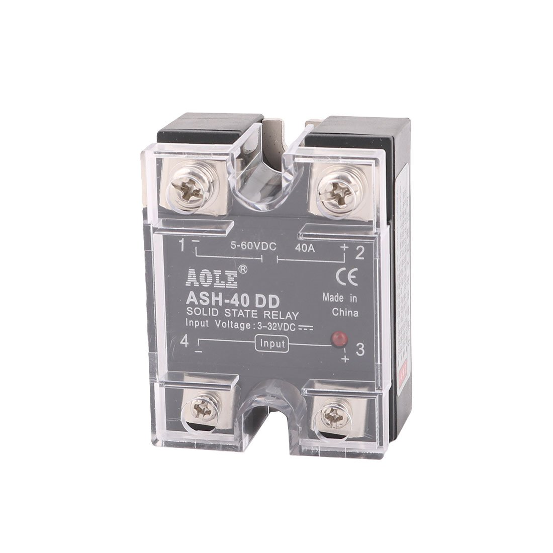 Uxcell Ash 40dd 3 32vdc To 5 60vdc 40a Single Phase Solid State Dc Relay Leakage